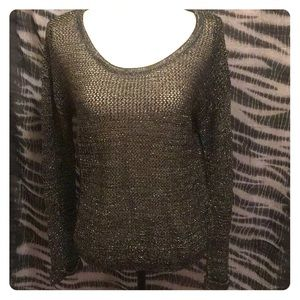 Urban Outfitters ByCorpus Metallic Sweater Sz  Med